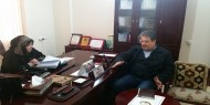 جانب من زيارة الدكتور بشير الريس لمقر الجمعية.