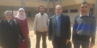 جولة تفقدية لرئيس مجلس الإدارة لمشروع مدرسة ثانوية الكويت بمحافظة رفح