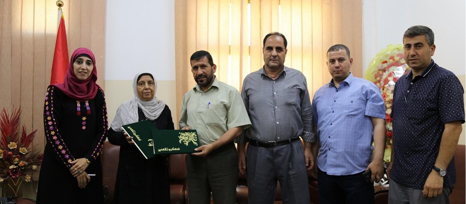 توقيع اتفاقية انشاء فصول دراسية جديدة بمدرسة القدس الثانوية للبنات بمحافظة رفح